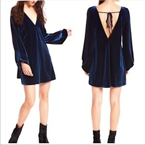 Free People Blue Velvet Misha Dress Size S